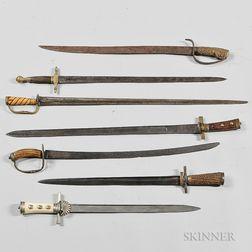 Seven 18th/19th Century European Hangers