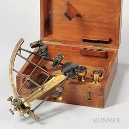 Thomas Wegener No. 1773 Anodized Brass Sextant