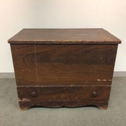 Grain-painted Pine One-drawer Blanket Chest