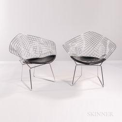 Two Harry Bertoia for Knoll International Diamond Chairs