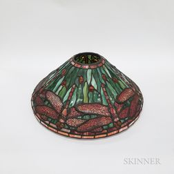 Tiffany-style Mosaic Glass Dragonfly Lamp Shade