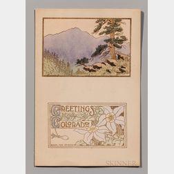 Maud Leach (1870-1927) Leach Art Studios Greetings From Colorado   Postcard