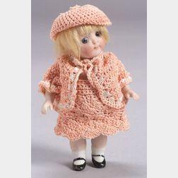 Small Kestner All Bisque Googlie-Eyed Doll