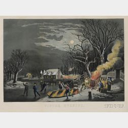 Nathaniel Currier, publisher (American, 1813-1888)      Winter Evening.