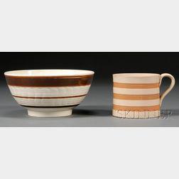 Earthenware Bowl and Porter Mug