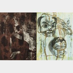 David Salle (American, b. 1952)      Plates 2 and 4   from the CANFIELD HATFIELD   Suite