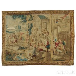 Beauvais Pastoral Tapestry After David Teniers the Younger