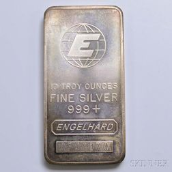 Engelhard Ten Troy Ounce Silver Bar