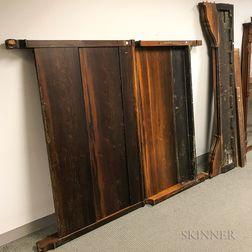 Rosewood Veneer Sleigh Bed