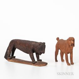 Carved Leopard and Poodle
