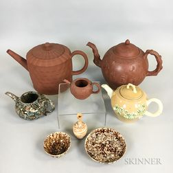Eight Early English Ceramic Items