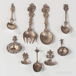 Group of German and Dutch Serving Pieces