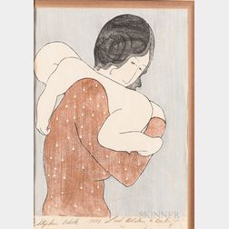 Stephen White (American, b. 1939)      Lady Holding a Baby