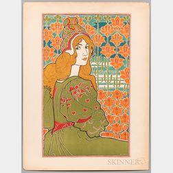 Louis John Rhead (1857-1926) Jane   Art Nouveau Lithograph