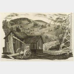 Prentiss Taylor (American, b. 1907)  Lot of Two Barn Views:  New Hampshire Baun