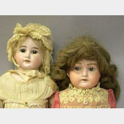 Two Shoulder Head Bisque Girl Dolls