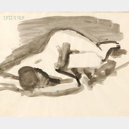 David Park (American, 1911-1960)      Female Nude, Reclining