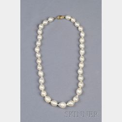 South Sea Semi-Baroque Pearl Necklace