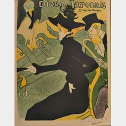 After Henri de Toulouse-Lautrec (French, 1864-1901)      Divan Japonais