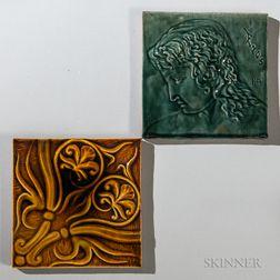 Two Chelsea Keramic Art Works Art Pottery Tiles