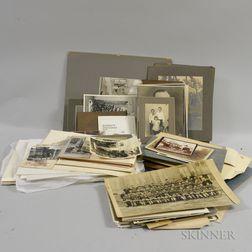 American School, 19th/20th Century Box of Approximately 500 Vernacular Photographs, Including Portraits, Niagara Views, Sports Activiti