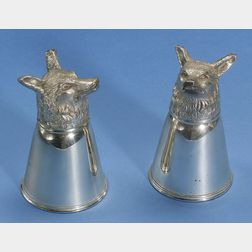 Fourteen Silver and Silver Plated Stirrup Cups