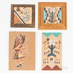 Four Contemporary Navajo Sand Paintings