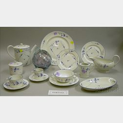 Approximately 122-piece Assembled A. Vignaud Limoges Blue and White Floral Decorated Porcelain Partial Dinner S...