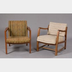 Two Dunbar Armchairs attributed to Edward Wormley
