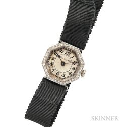 Edwardian Diamond Wristwatch, Marcus & Co.