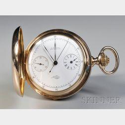 Patek Phillippe & Co. Chronograph Register 18Kt Gold Hunter Case Watch