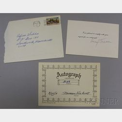 Harry Truman Autographed Card and a Norman Rockwell Autographed Card.
