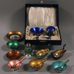 Eleven Enameled Salts and Peppers