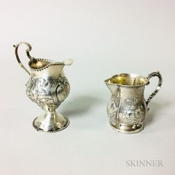 Pair of English Sterling Silver Cream Jugs