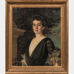 Alphonse Jongers (New York/Connecticut/Canada, 1872-1945)      Portrait of Mary Higginson Sears