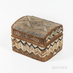 Micmac Quilled Birchbark Box
