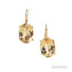 18kt Gold and Citrine Earrings