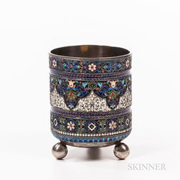 Russian Silver and Enameled Cup