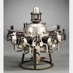 Nine Cylinder Radial Model Airplane Engine
