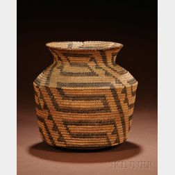 Southwest Coiled Basketry Jar