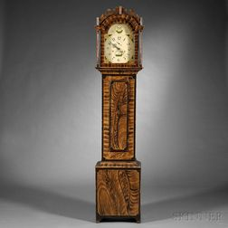 Paint-decorated Pine Tall Case Clock