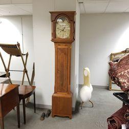 Inlaid Mahogany American Tall Clock