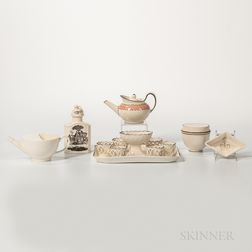 Six Creamware Items