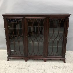 Georgian-style Mahogany China Cabinet