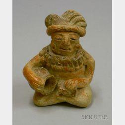 Mayan-type Pottery Figure
