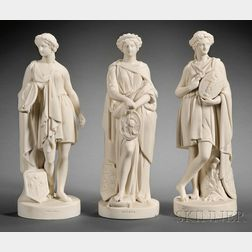 Set of Three Wedgwood Carrara Figures