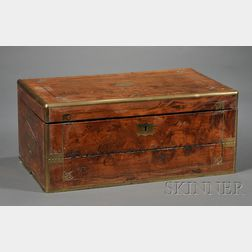 Chinese Brass-bound Rosewood Lap Desk
