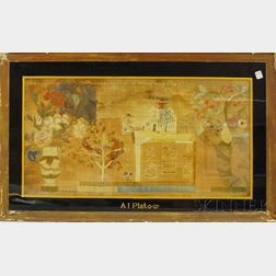 Framed 18th Century Needlework Panel