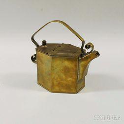 Christopher Dresser Design Brass Tea Kettle