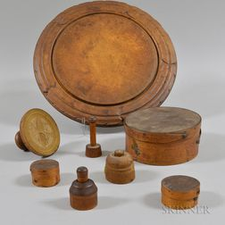 Eight Wooden Domestic Items